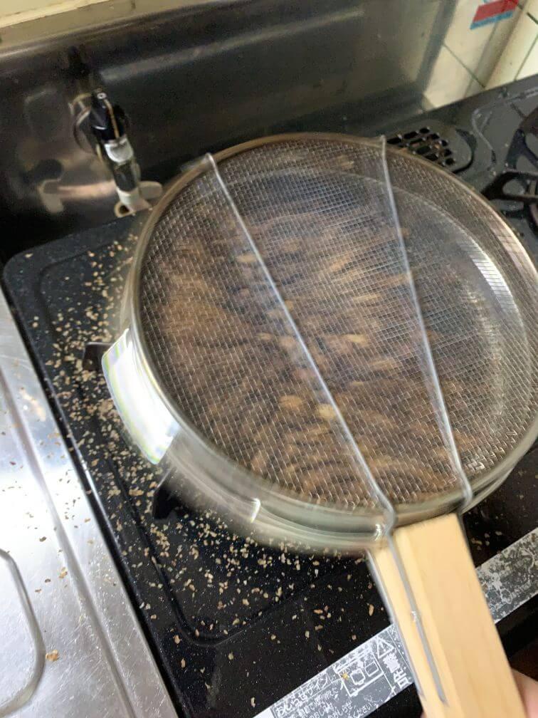 コーヒー焙煎 焙煎中